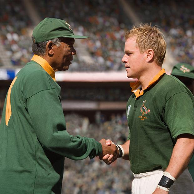 The Advertiser Series: BIG SCREEN: Morgan Freeman and Matt Damon in Invictus