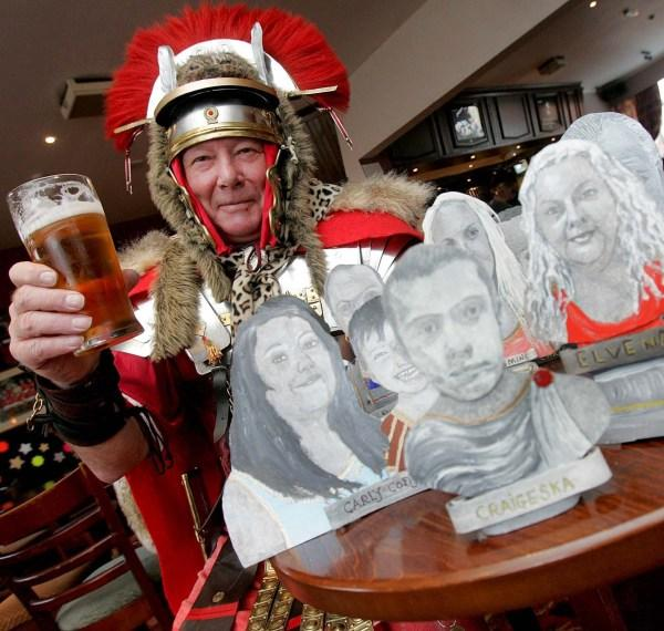 The Advertiser Series: JOB DONE: Tony Jose with some of the busts he has created at the Last Orders