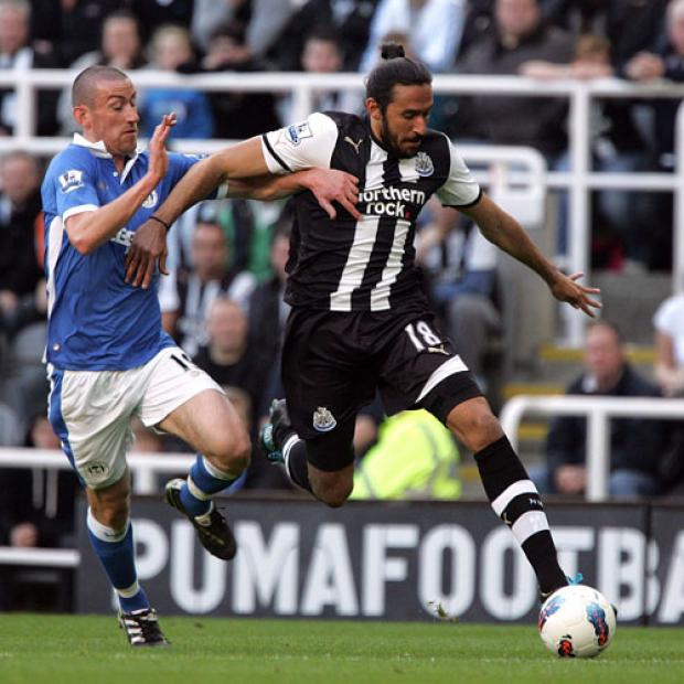 The Advertiser Series: NORWICH BOUND: Jonas Gutierrez has left Newcastle United on loan for the remainder of the season