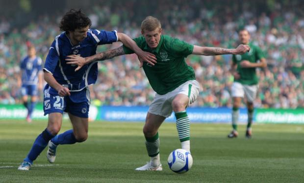 CENTRAL SPOT: Sunderland winger McClean will play inside for Ireland this Friday