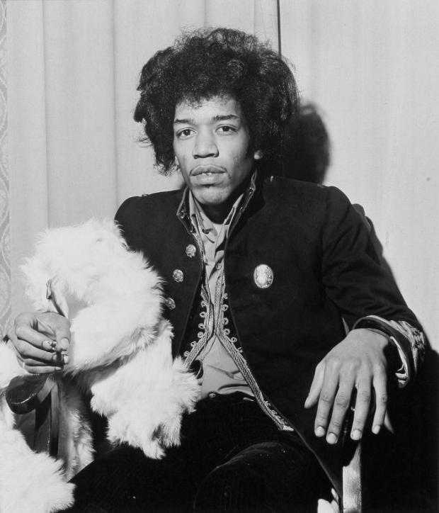 HERE'S PROOF: A photograph by Ian Wright taken of Jimi Hendrix moments before he went on stage at the Imperial Hotel, Darlington, in 1967