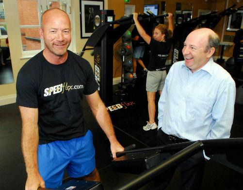 Former Newcastle footballer Alan Shearer, left, who has invested in a new busines venture belonging to Sage co-founder Graham Wylie.