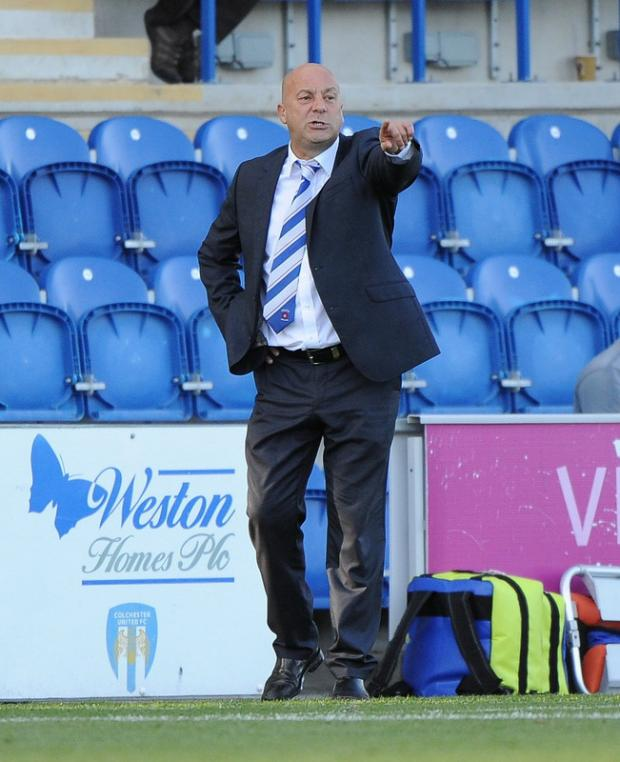 MUST DO BETTER: Pools boss Neale Cooper shouts orders from the sideline. He has promised to make changes