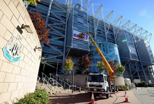 ABOUT TURN: The Sports Direct signage is removed from Newcastle United's stadium.