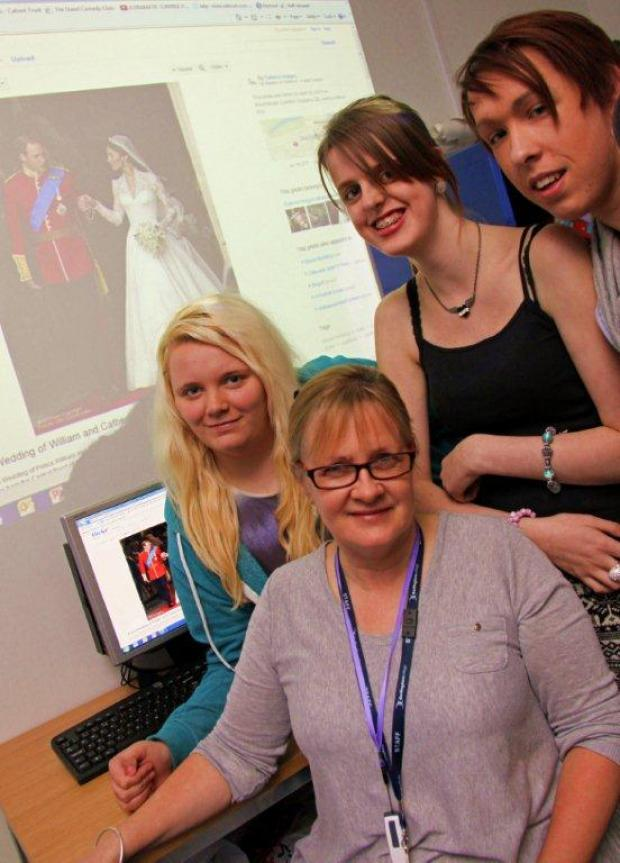 Ali Wright (centre) with some of her Pathways students