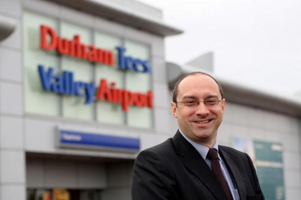 The Advertiser Series: CHALLENGE: Andy Foulds, who has pledged to transform the fortunes of Durham Tees Valley Airport