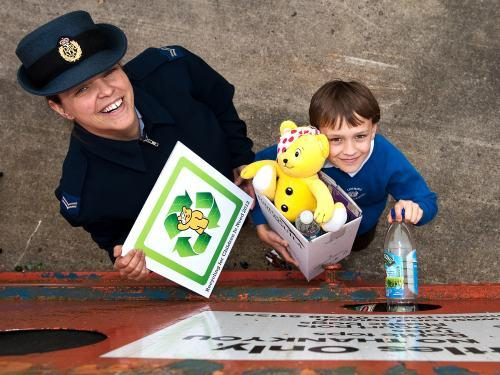 The Advertiser Series: James Prest and his mother Corporal Jo Jones at the RAF Leeming recycling centre.