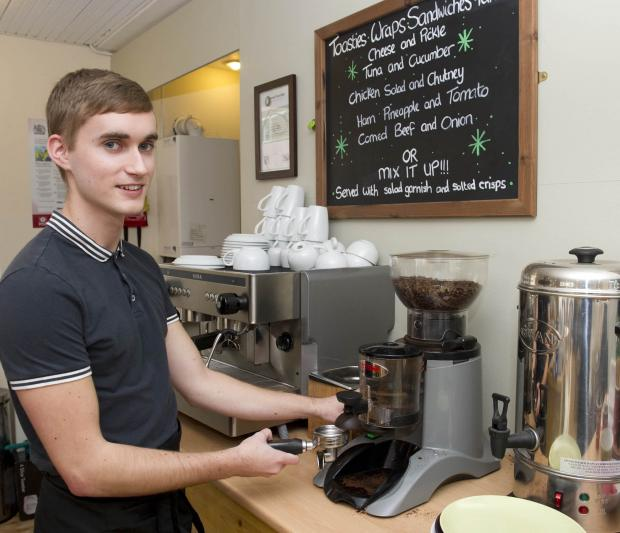 HIGH HOPES: Teenage coffee entrepreneur Callum Troup