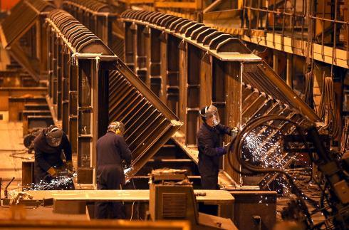 The Advertiser Series: Manufacturers, such as Darlington's Cleveland Bridge, enjoyed another strong month in February, a report has said