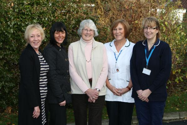 The Riact team: Christine Forsyth, Carolyn Harton, Margaret Horseman, Christine Booth and Dawn Day