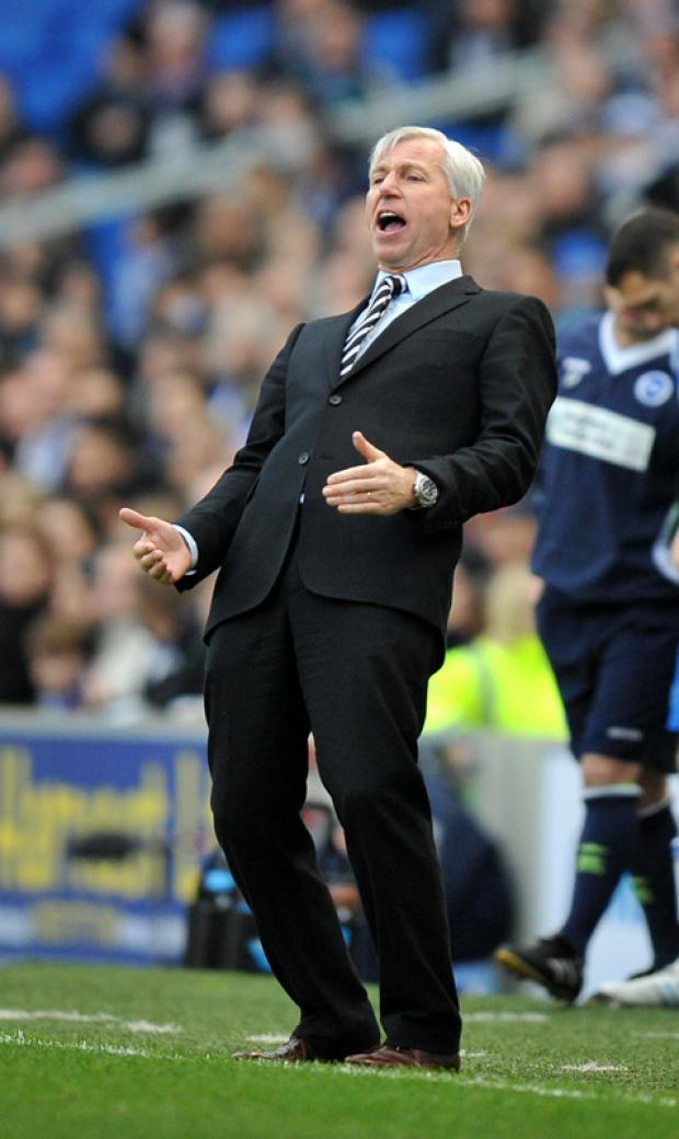 CUP EXIT: Newcastle United manager Alan Pardew during the FA Cup third round match at Brighton on Saturday
