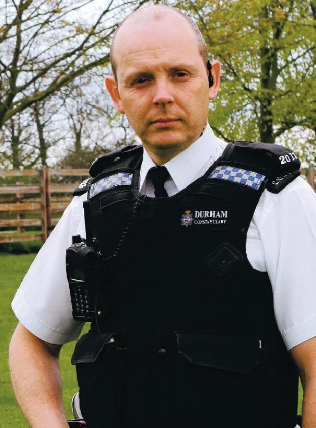 AMERICAN LINK: PC John Forster, of Darlington police
