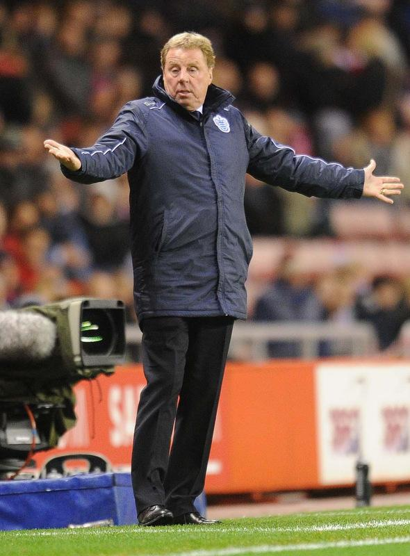 Harry Redknapp during the Barclays Premier League match at the Stadium of Light, Sunderland.