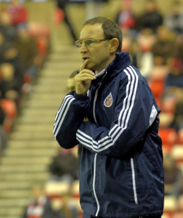 "Martin O'Neill, who said his side went out of the cup ""rather too meekly"""