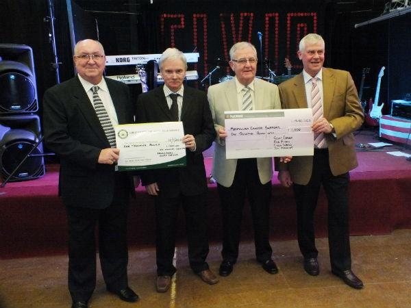 Charity dance organisers Colin Ward, Jim Manning, Geoff Corner and Rod Fidell.