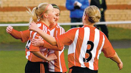 The Advertiser Series: HAT-TRICK HERO: Beth Mead is pictured celebrating her hat-trick last weekend