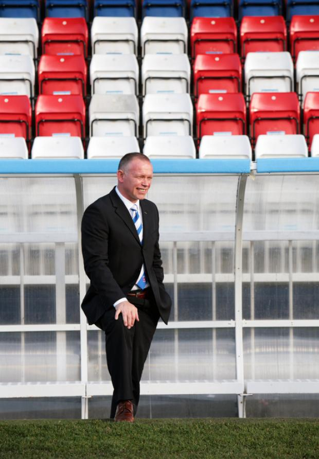 TAKE RESPONSIBILITY: Hartlepool United manager John Hughes