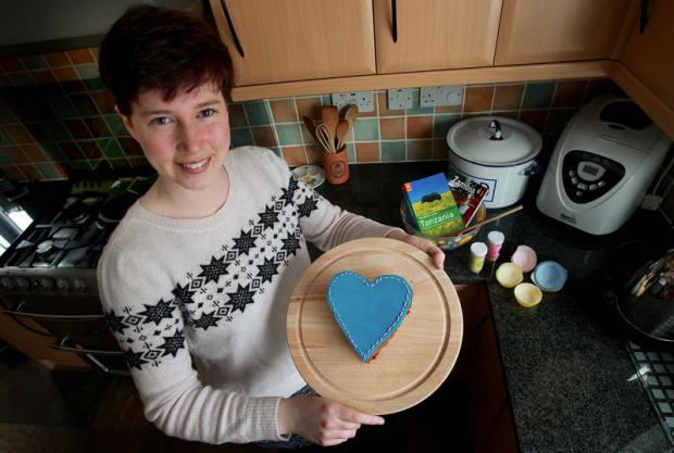 CAKE DAY: Fiona McGlade with one of her Valentine's themed cakes