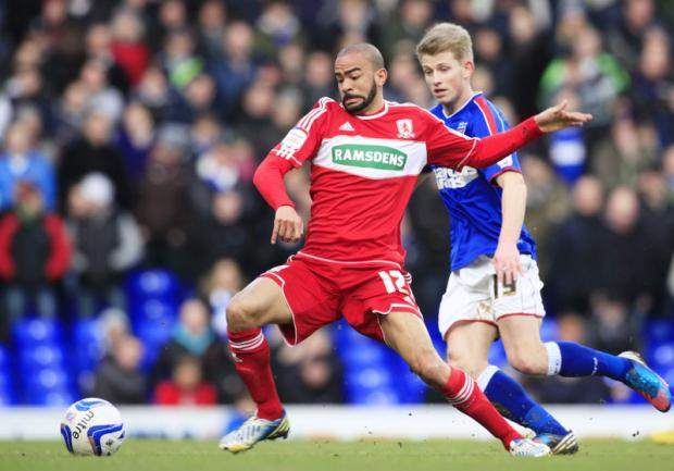 FIT, READY AND WILLING: Kieron Dyer made his Boro debut at the weekend in a 4-0 defeat at Ipswich, and is now looking for an extended run of games