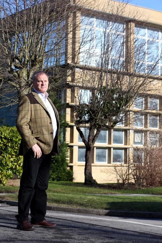HIGH HOPES: Estate manager Eddie Humphries outside the Rocket Building