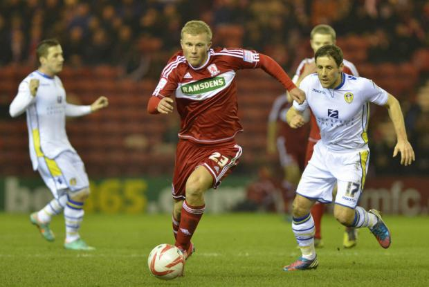 ON THE RUN: Curtis Main scythes through Leeds United's