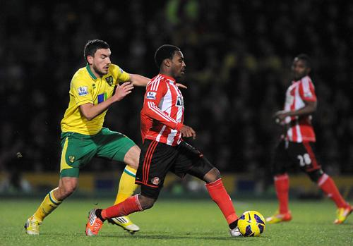 FEELS LIKE HOME: Danny Rose is enjoying his spell on Wearside on loan from Tottenham Hotspur
