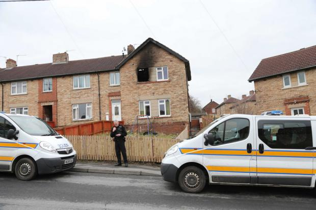 The Advertiser Series: Police at the scene of the fire on Chaytor Road, Bridgehill, near Consett
