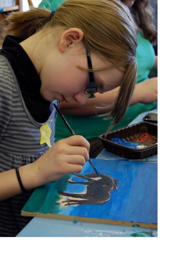 The Advertiser Series: Holly Taylor, 11, from Crook takes part in Febfest last year