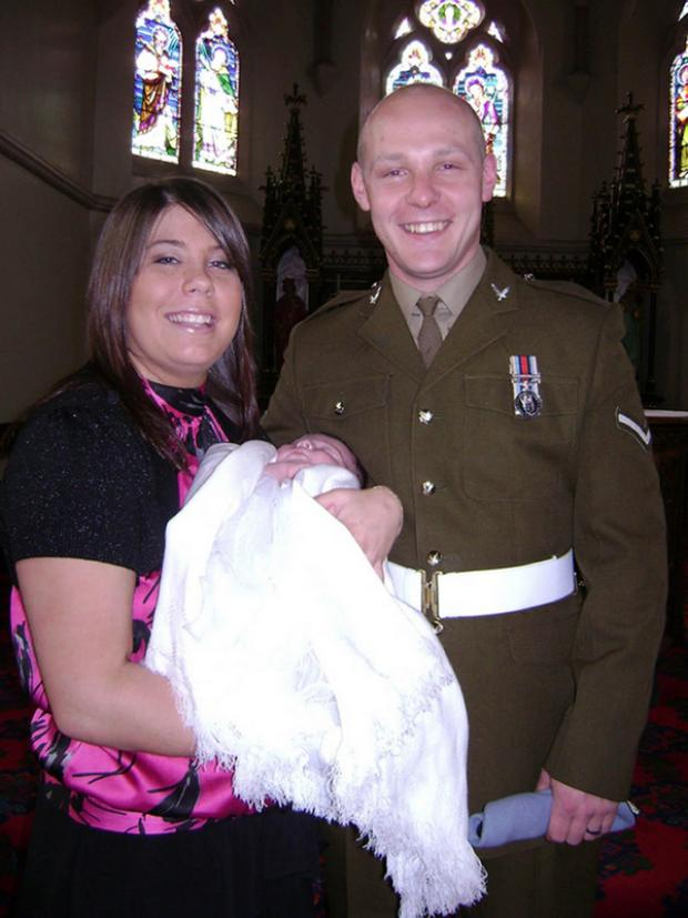 The Advertiser Series: HAPPY FAMILY: Lance Corporal David Kenneth Wilson and his fiancee, Mic