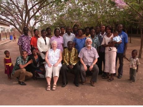 The Advertiser Series: Pauline and Clive Beecham with staff at the Grace Project school