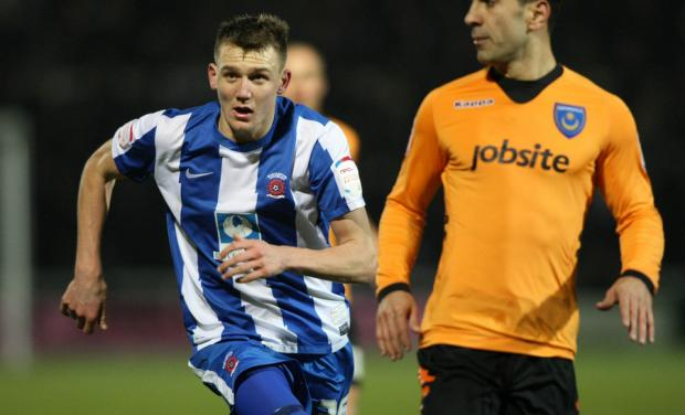 MAINSTAY: Charlie Wyke, who is on loan at Hartlepool United from Boro