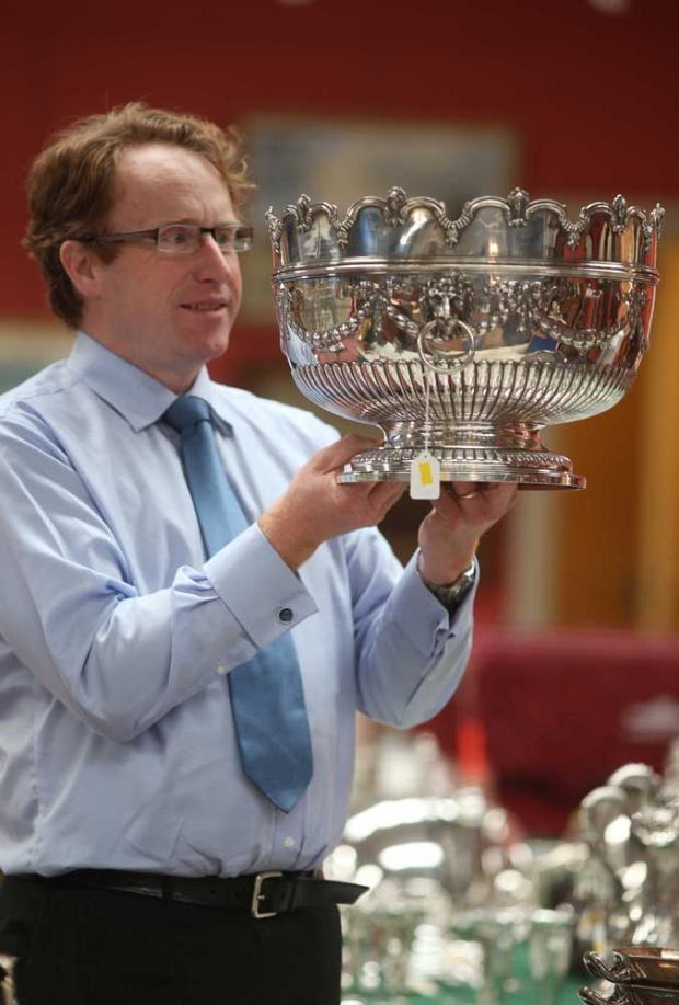 The Advertiser Series: Julian Thomson of Anderson and Garland with silver punch bowl
