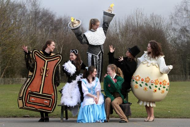 Pupils of Durham School promoting production of Beauty and the Beast