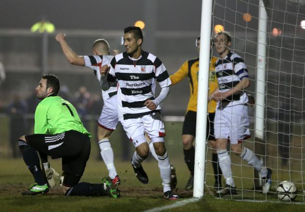 NUMBER THREE: Amar Purewal celebrates scoring