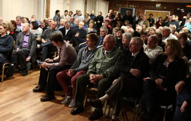 FANS FORUM: At least 200 people attended the meeting last night to talk about Darlington Football Club's future