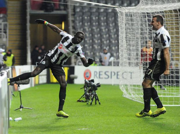 KICKING OUT: Cisse shows some passion after scoring