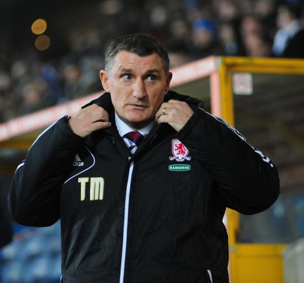 GIVING IT A GO: Boro boss Tony Mowbray remains positive