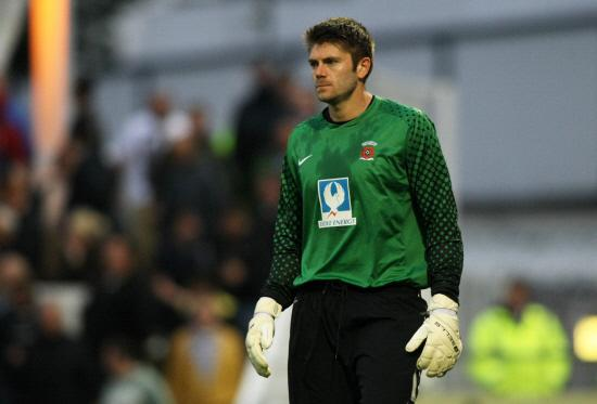 TOP FORM: Hartlepool keeper Scott Flinders kept the score down during last night's defeat at Oldham Athletic