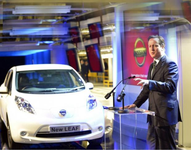 The Advertiser Series: David Cameron launching production of the Nissan Leaf at Sunderland in March 2013