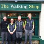 From left, sponsor Alec Ryecroft with walkers Jim McRobert, Paul Mort and Stephen Walker.