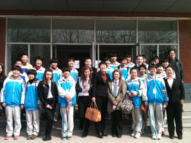 The Advertiser Series: CULTURAL EXCHANGE: Whitworth Park pupils with their Chinese hosts