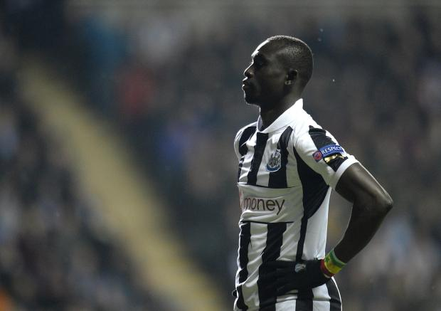 The Advertiser Series: INJURY BLOW: Papiss Cisse suffered a broken kneecap in Newcastle's 2-1 defeat to Swansea at the weekend