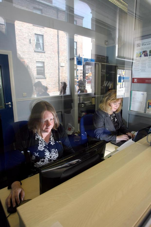 The Advertiser Series: HERE TO HELP: Staff at Darlington Credit Union. Library image.