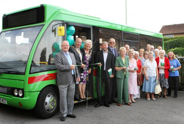 The Advertiser Series: VILLAGE CONNECTIONS: Darlington mayor Charles Johnson launches the Our Bus service, in Darlington last year
