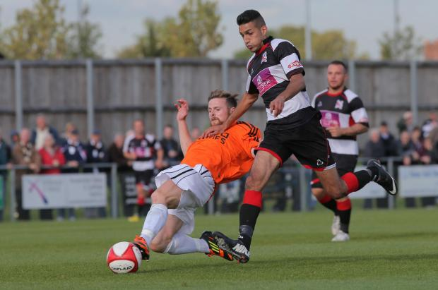 The Advertiser Series: BACK OF THE NET: Amar Purewal scored Darlington's second goal on Saturday