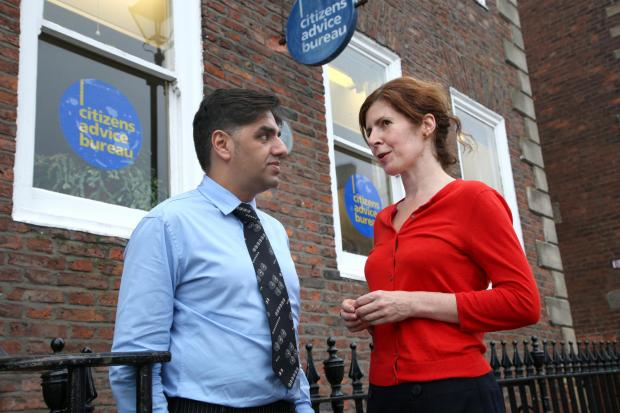 The Advertiser Series: SCAM WARNING: Darlington CAB chief Neeraj Sharma, pictured with the town's MP Jenny Chapman