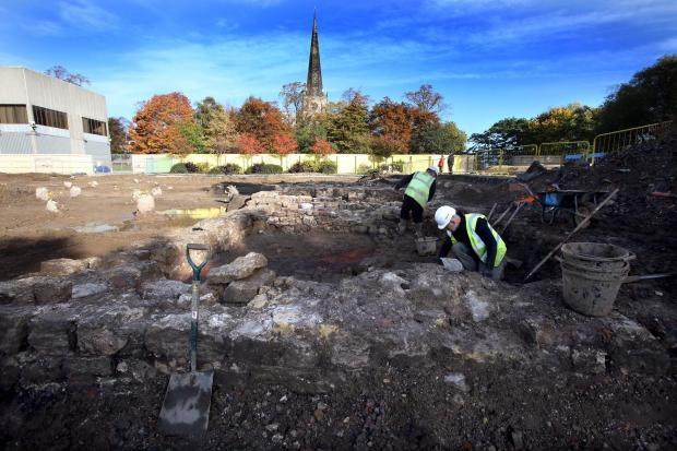 The Advertiser Series: Archaeologists excavate land behind Darlington Town Hall