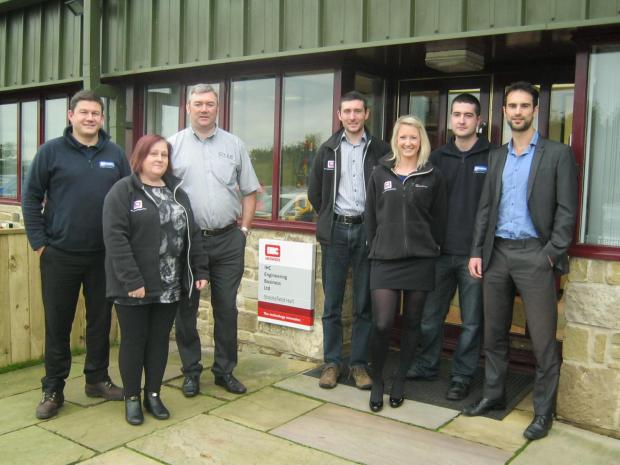 The Advertiser Series: From left, Glenn Whelam, PJ production manager, Beverley Satterthwaite, IHC expeditor, Graeme Parkins, Steve Wilkinson, IHC senior design engineer, Charlotte Pugh, Dave Robson, PJ project engineer, and Ben Moore, Business Dev