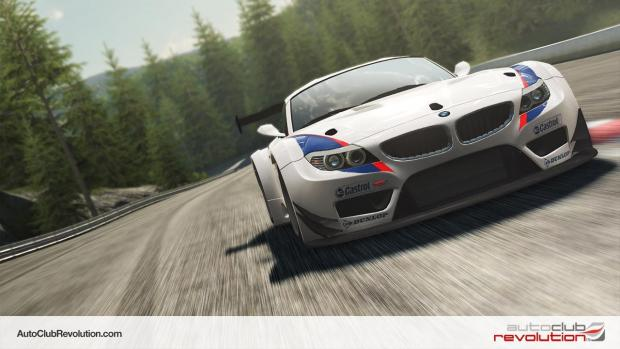 The Advertiser Series: A screenshot of a BMW racing car from Eutechnyx's Auto Club Revolution