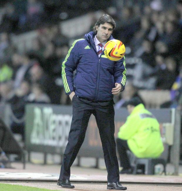 The Advertiser Series: TRAINING GAME: Aitor Karanka has had a full week to iron out problems with his squad